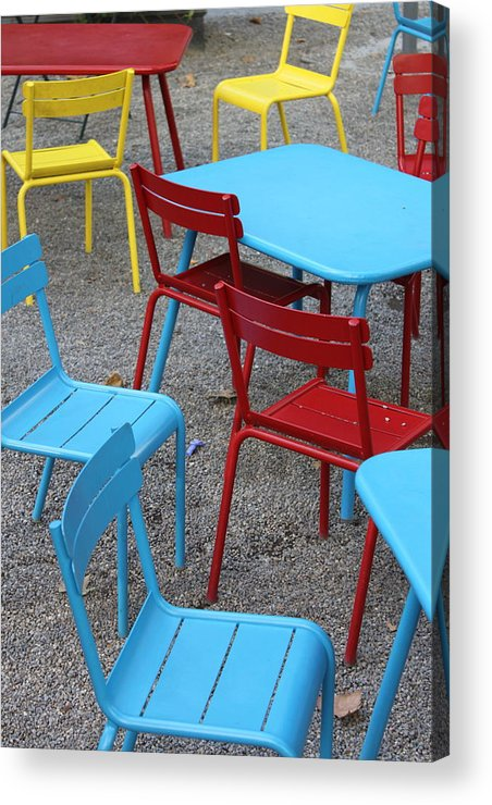 Chairs Acrylic Print featuring the photograph Chairs In Bryant Park by Lauri Novak
