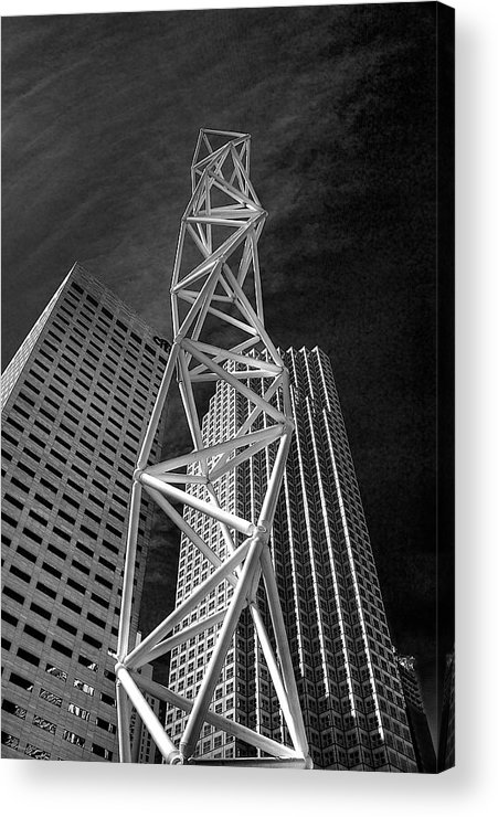 Challenger Acrylic Print featuring the photograph Challenger Memorial In Miami by William Wetmore