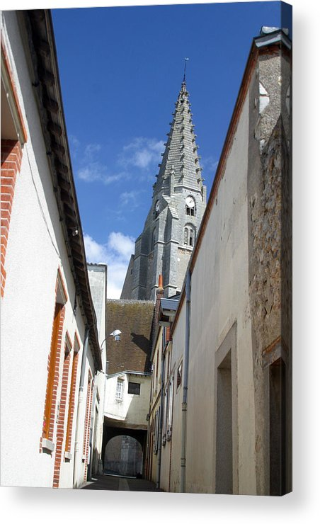 Photographer Acrylic Print featuring the photograph Chateaudun Streets 2 by Jez C Self