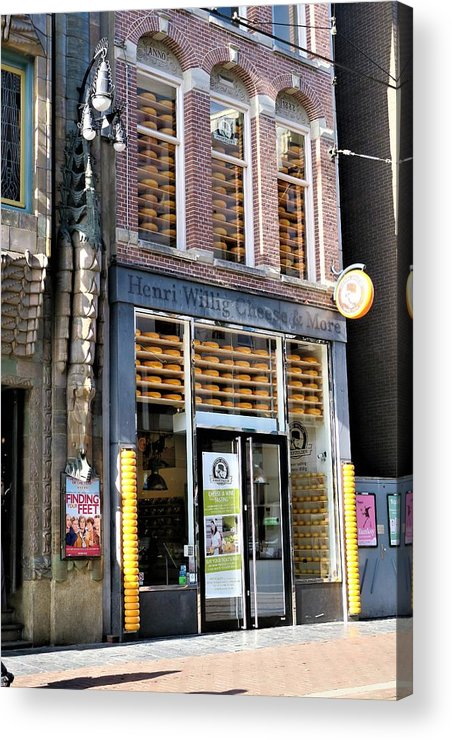 Landscape Acrylic Print featuring the photograph Cheese Shop by Sandra Bourret