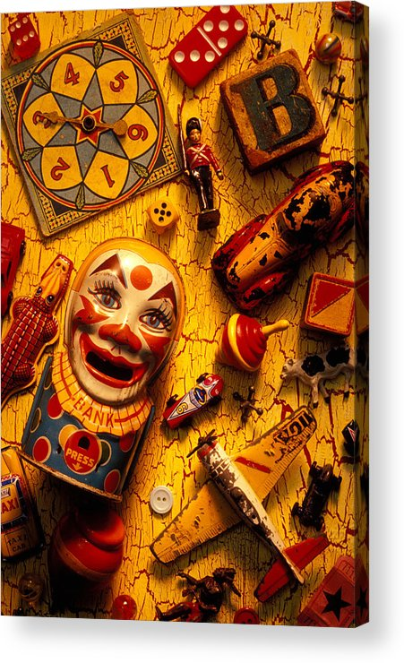 Toy Acrylic Print featuring the photograph Childhood Toys by Garry Gay