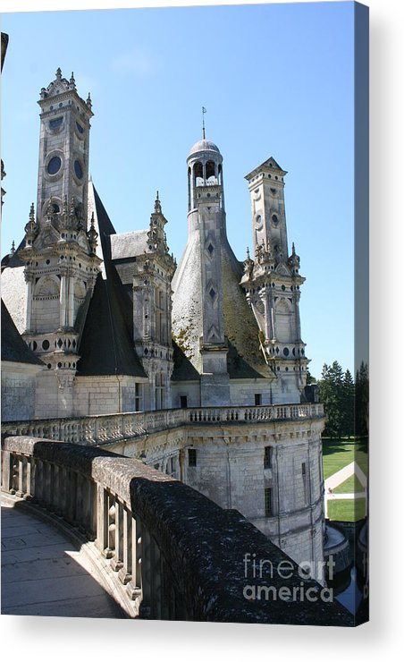 Chimney Acrylic Print featuring the photograph Chimney From Chambord - Loire by Christiane Schulze Art And Photography
