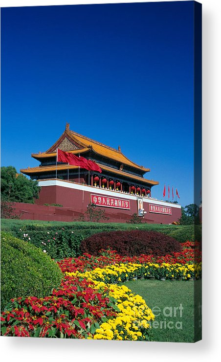 Architecture Acrylic Print featuring the photograph China, Beijing by Gloria & Richard Maschmeyer - Printscapes
