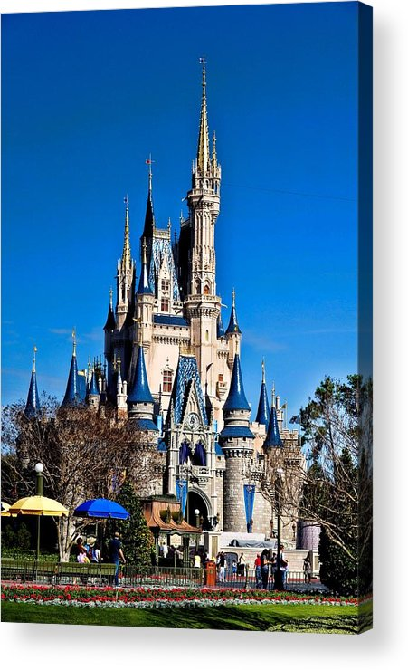 Cinderella Castle Acrylic Print featuring the photograph Cinderella Castle by Tommy Anderson