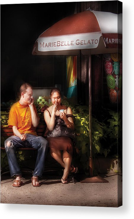 Savad Acrylic Print featuring the photograph City - Ny - Mariebelle Gelato by Mike Savad