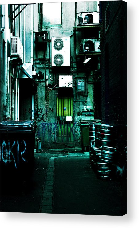 Air Conditioner Acrylic Print featuring the photograph Clandestine by Andrew Paranavitana