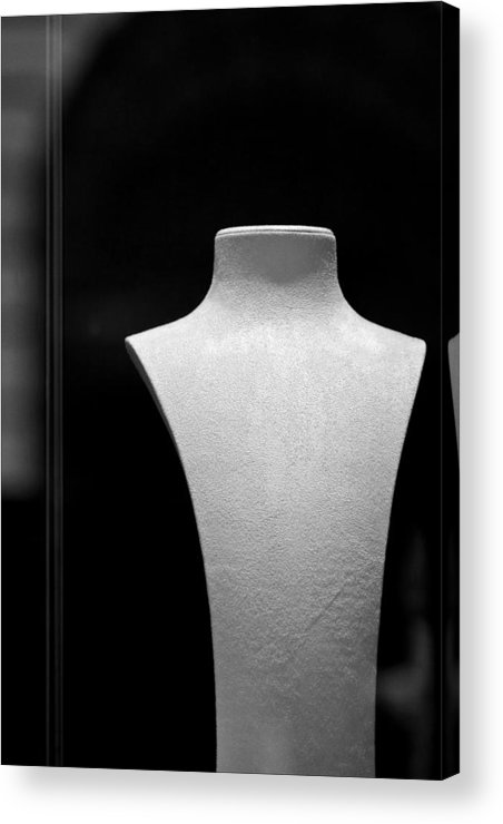 Black And White Acrylic Print featuring the photograph Closed Jewelry Store by Robert Ullmann