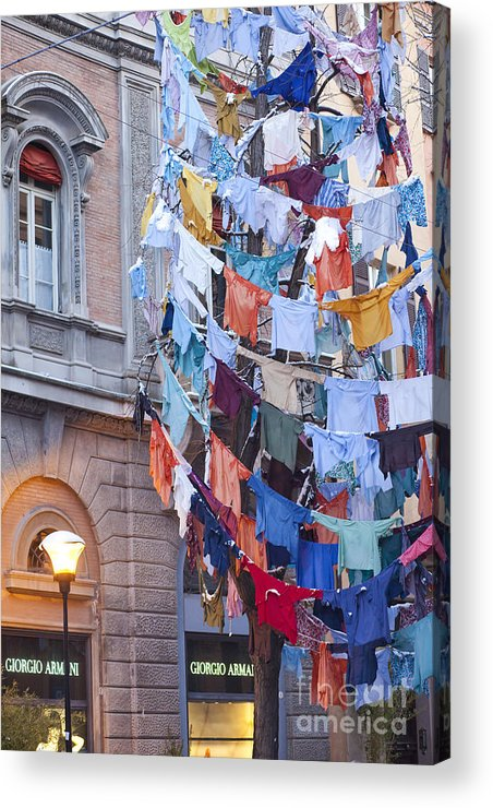 Angel Acrylic Print featuring the photograph Clothes In The Street by Andre Goncalves