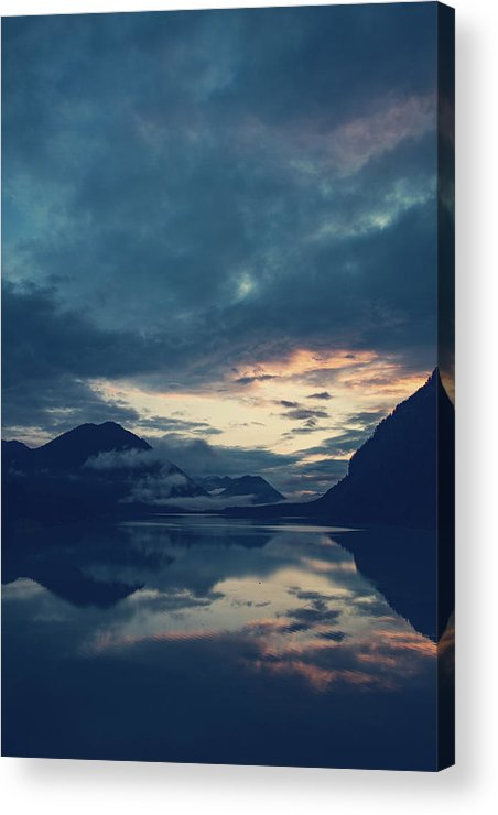Cloud Acrylic Print featuring the photograph Cloud Mountain Reflection by Franz Sussbauer
