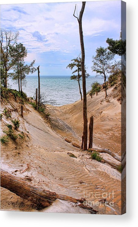 Lake Erie Acrylic Print featuring the photograph Contemplative Serenity by Cathy Beharriell
