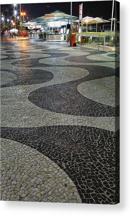 Atlantic Ocean Acrylic Print featuring the photograph Copacabana Night by George Oze