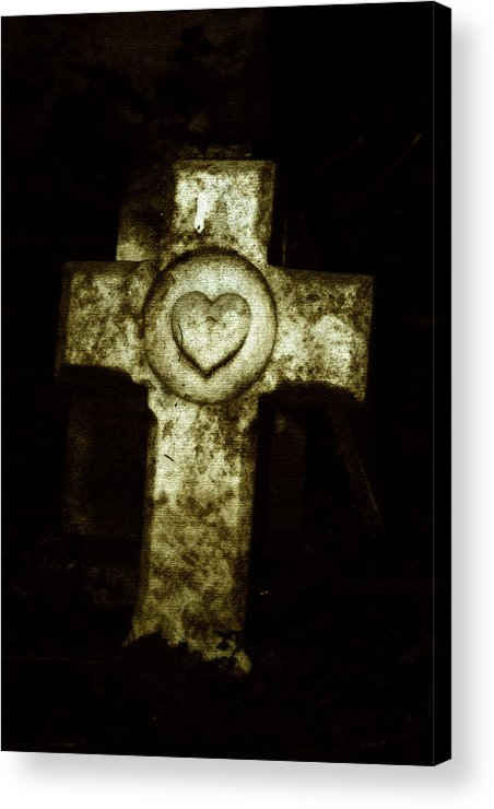 Cross Acrylic Print featuring the photograph Cross My Heart by Carl Perry