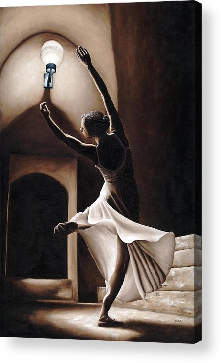 Dance Acrylic Print featuring the painting Dance Seclusion by Richard Young