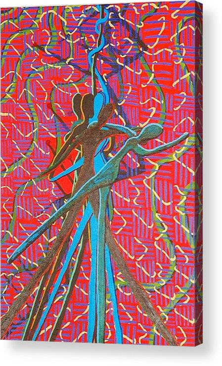 Figure Acrylic Print featuring the painting Dance With Me by Rika Maja Duevel