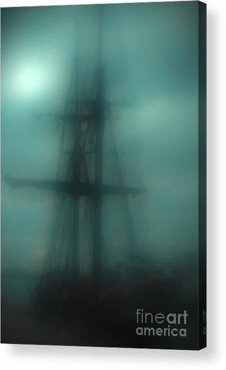 Blue Acrylic Print featuring the photograph Dangerous Waters by Andrew Paranavitana