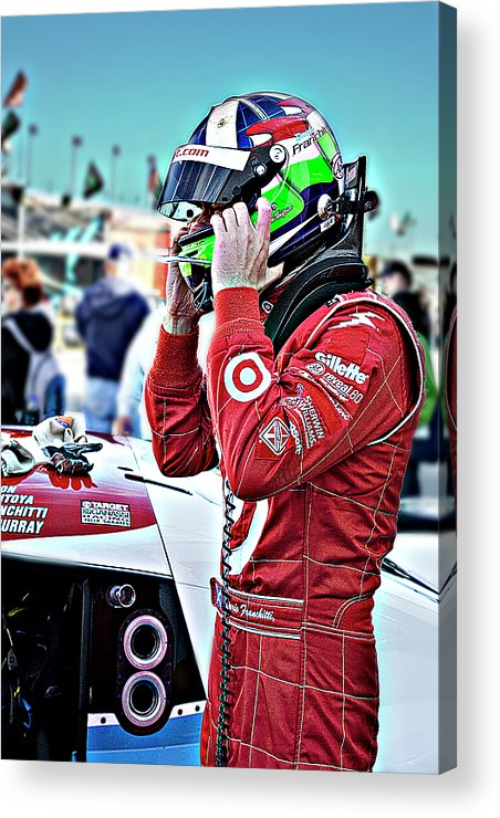 Dario Acrylic Print featuring the photograph Dario Franchitti by Bill Linhares