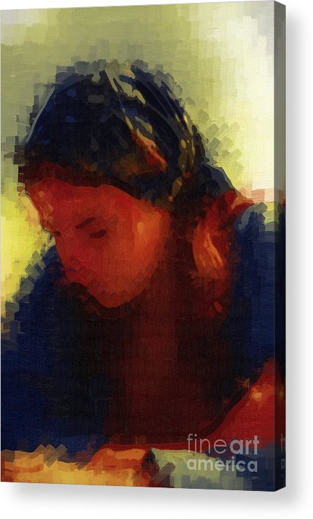 Depressed Acrylic Print featuring the painting Depression And Grief by Deborah MacQuarrie-Selib
