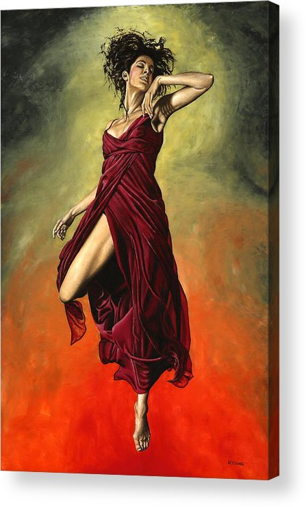 Dance Acrylic Print featuring the painting Destiny's Dance by Richard Young