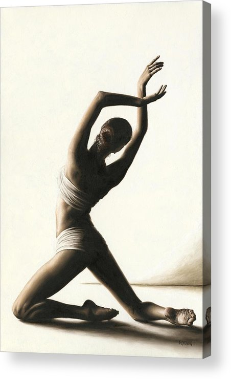 Dancer Acrylic Print featuring the painting Devotion To Dance by Richard Young