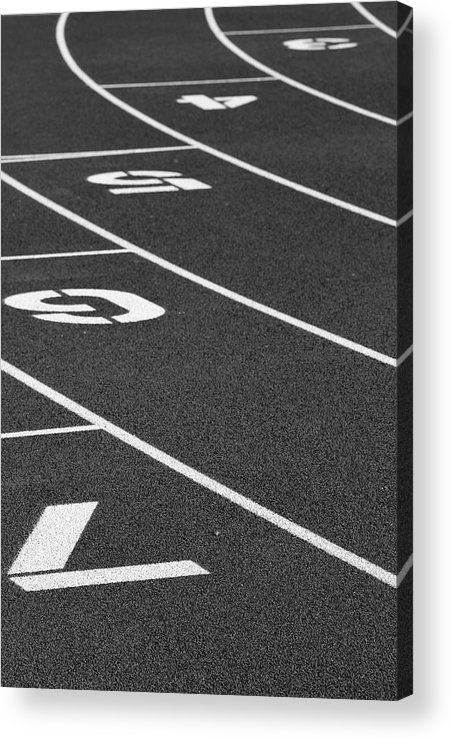 Track Acrylic Print featuring the photograph Dimensional Curve by Laddie Halupa