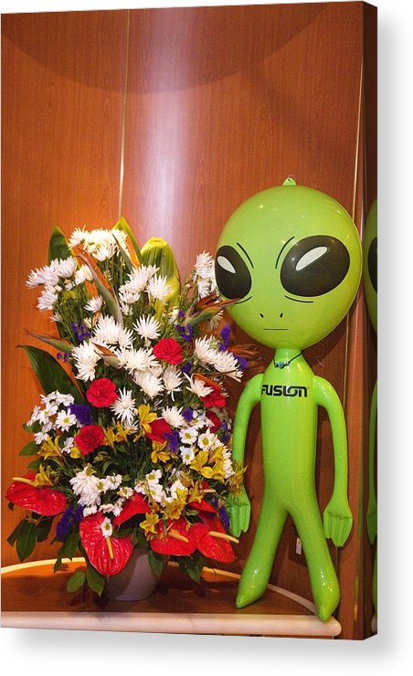 Alien Acrylic Print featuring the photograph Do Aliens Get Hay Fever by Richard Henne