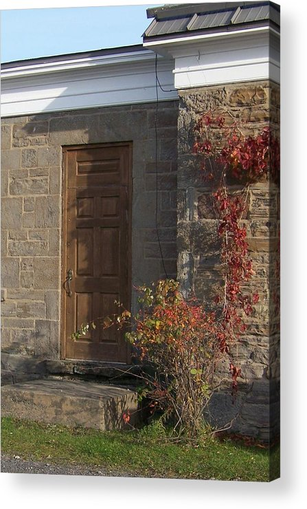 Stone Acrylic Print featuring the photograph Doorway At The Stone House - Photograph by Jackie Mueller-Jones