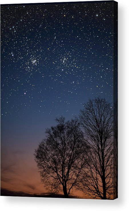 Stars Acrylic Print featuring the photograph Double Cluster Sunset by Charles Warren