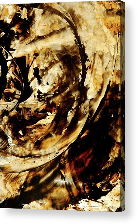 Brown Acrylic Print featuring the painting Double Espresso by Sharon Cummings