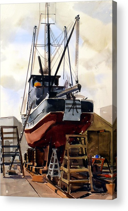 Marine Acrylic Print featuring the painting Dry Dock by Ken Duffin