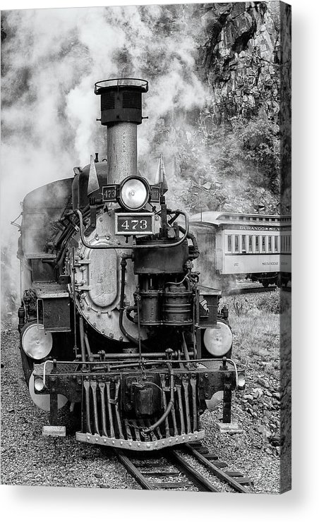 Trains Acrylic Print featuring the photograph Durango Silverton Train Engine by Angela Moyer