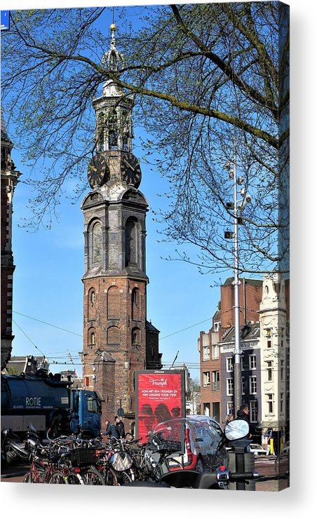 Architecture Acrylic Print featuring the photograph Dutch Steeple by Sandra Bourret