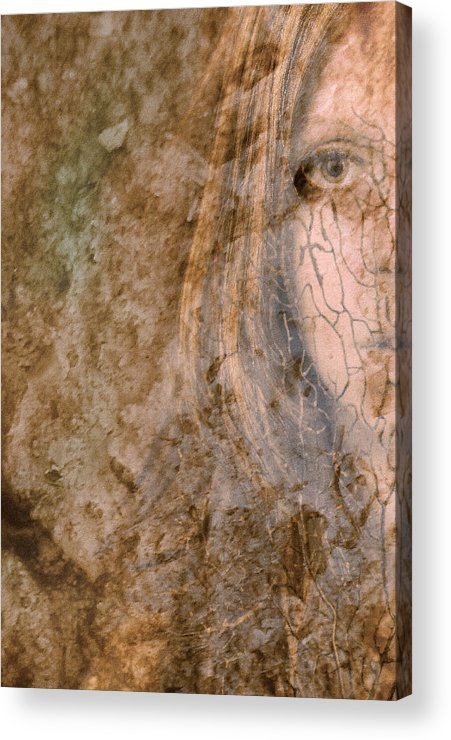 Abstract Acrylic Print featuring the photograph Earth Maiden by Steve Parrott