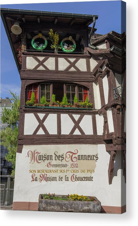 Alsace Acrylic Print featuring the photograph Easter At Maison Des Tanneurs by Teresa Mucha