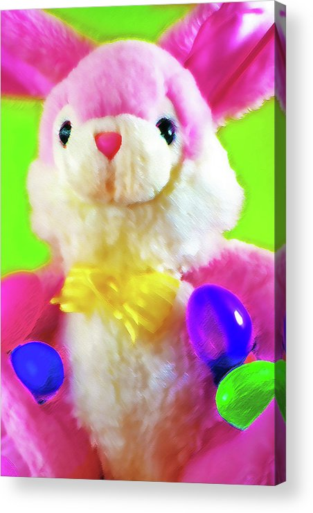 Easter Acrylic Print featuring the photograph Easter Bunny 2 by Steve Ohlsen