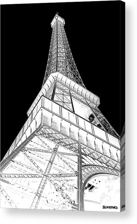 Eiffel Tower Acrylic Print featuring the photograph Eiffel Up Inverted by Al Blackford