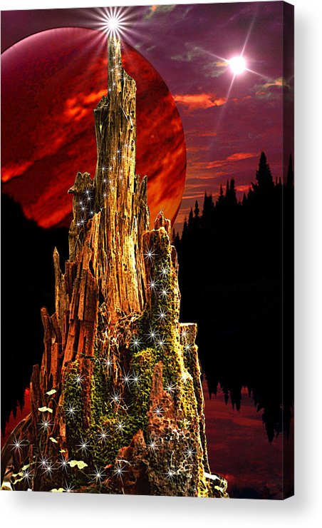 Fantasy Acrylic Print featuring the digital art Elfen Conclave by Roger Soule