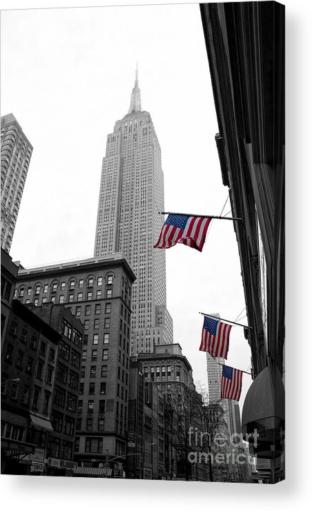 Manhattan Acrylic Print featuring the photograph Empire State Building In The Mist by John Farnan