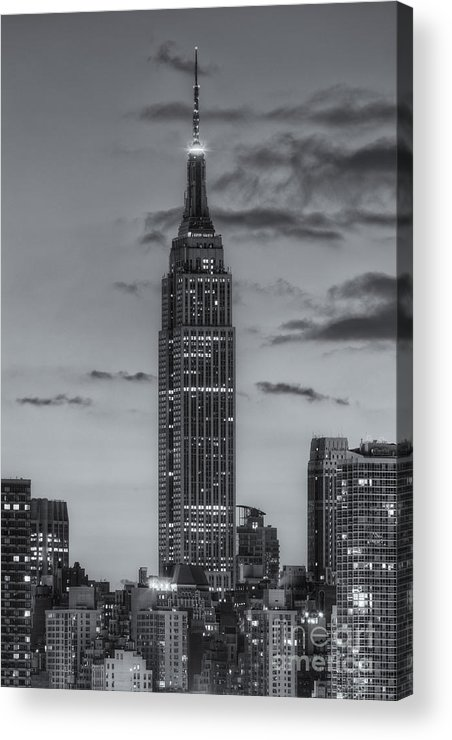 Clarence Holmes Acrylic Print featuring the photograph Empire State Building Morning Twilight Iv by Clarence Holmes