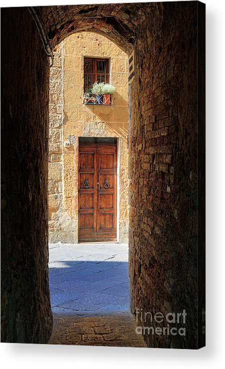 Europe Acrylic Print featuring the photograph End Of The Tunnel by Inge Johnsson