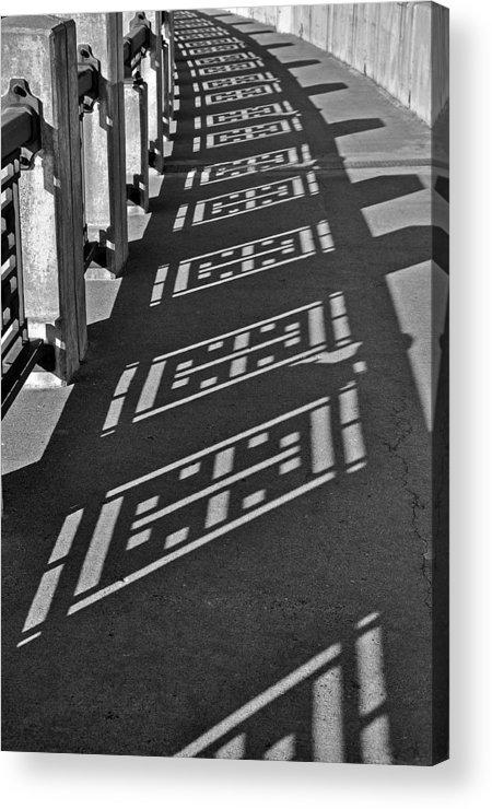 B&w Acrylic Print featuring the photograph Endless Walkway by John Ricker