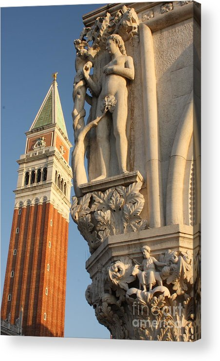 Venice Acrylic Print featuring the photograph Eve And Bell Tower In Venice At San Marco by Michael Henderson