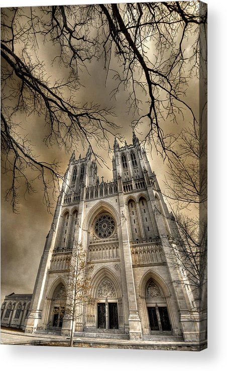 Washington National Cathedral Acrylic Print featuring the photograph Evil Arms by Lori Deiter