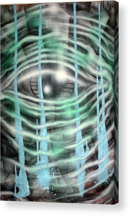 Surreal Acrylic Print featuring the painting Eye Knew by Leigh Odom