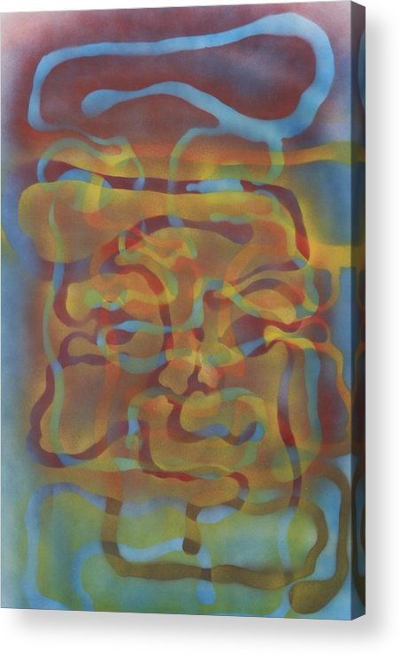 Face Acrylic Print featuring the painting Face Of Colors by Roy Woods