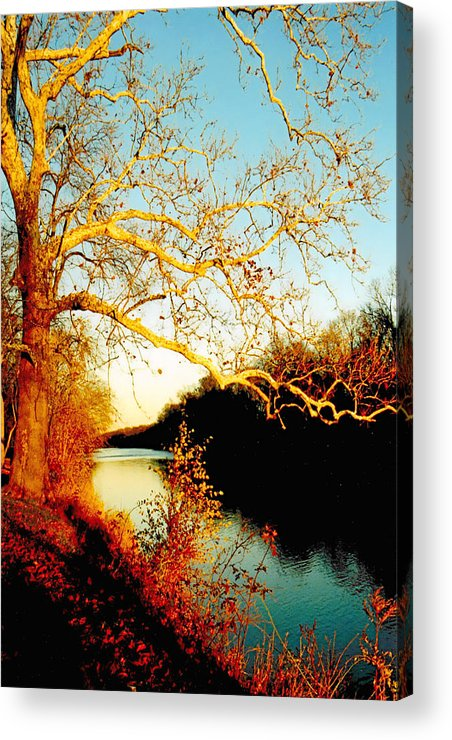 River Acrylic Print featuring the photograph Fall At The Raritan River In New Jersey by Christine Till