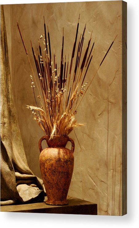 Fall Acrylic Print featuring the photograph Fall In A Vase Still-life by Christine Till