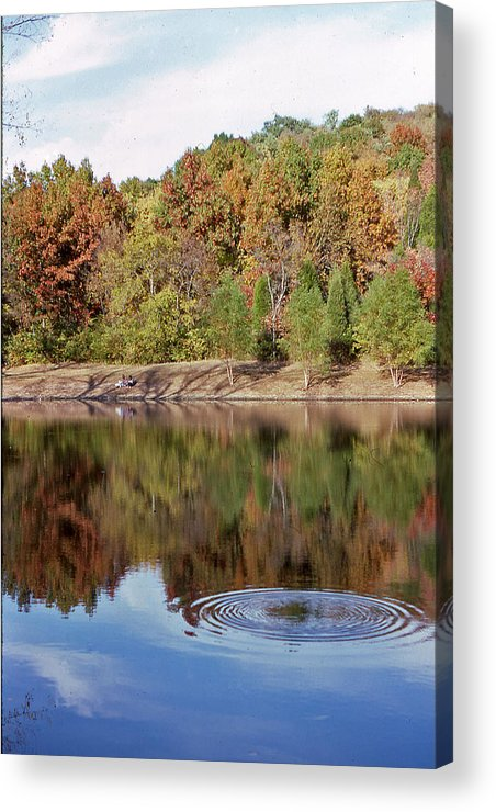 Metropolitan Park Acrylic Print featuring the photograph Fall Reflections - 1 by Randy Muir