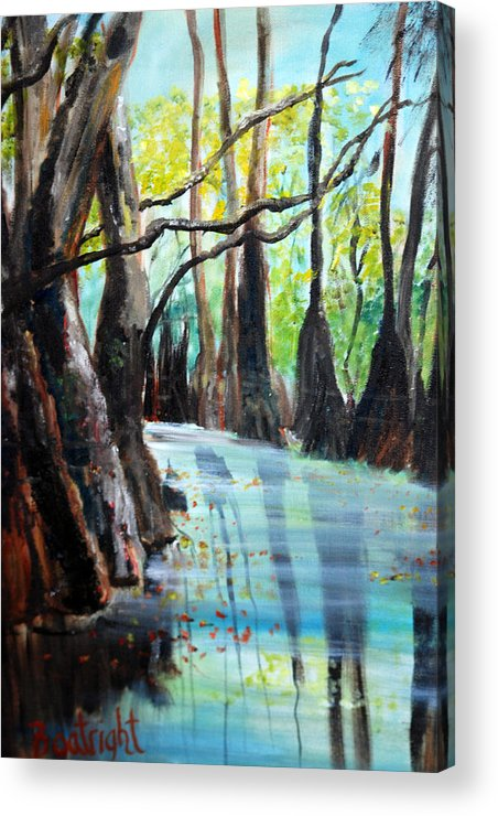 South Georgia Acrylic Print featuring the painting Falling Leaves by Diane Fiore