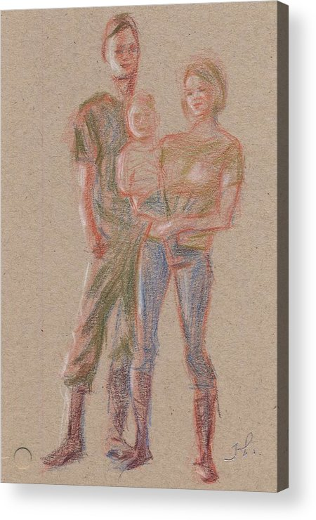 Portrait Acrylic Print featuring the painting Family by Horacio Prada