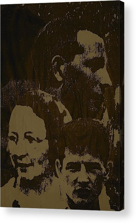 Acrylic Print featuring the mixed media Family Portrait by Chris Riley